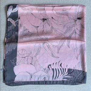 Pink Floral Shawl
